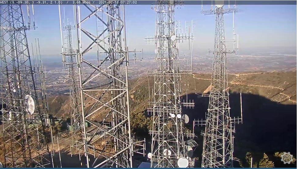 webcam Santiago Peak